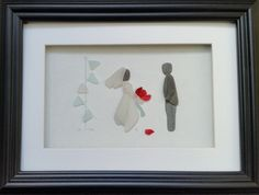 pebble art pebble pictures #Wedding Day Portraits make truly original gifts. https://www.etsy.com/shop/CornishPebbleArt