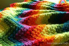 Rumpled Rainbow Ripple Crochet Baby Blanket Free Pattern