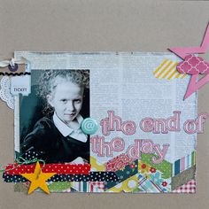Love the use of the @ button on this gorgeous layout by Kirsty Wiseman