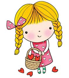 Penny Black Rubber Stamp - Basket Of Love