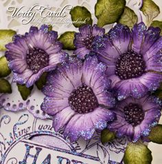 Verity Cards: Flower Making Tutorial