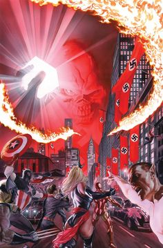 Avengers/Invaders #9 cover •Alex Ross