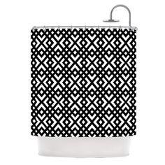East Urban Home Dijagonala Shower Curtain