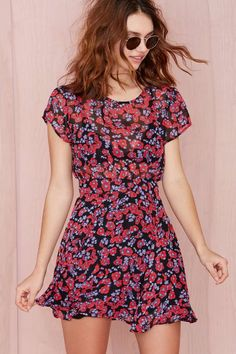Adorable printed dress - great colors