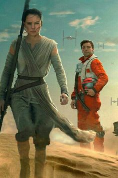 Poe and Rey #starwars #forceawakens #tfa They barely met in this movie but I hope they have a better relationship in Episode eight.
