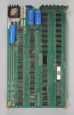 The Apple 1 motherboard, assembled by Steve Wozniak.