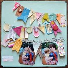 Love the use of scraps to cut out a bunch of tag shapes.