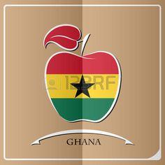 apple logo made from the flag of Ghana