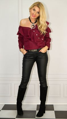 Photo Sessions, How To Look Better, Leather Pants, Chic, Style, Fashion, Leather Jogger Pants, Shabby Chic, Swag