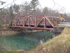 "Bridge in Sale Creek, TN where the Pitty Pat entity chases passersby, as told in the book ""Ghosts of the Southern Tennessee Valley."""