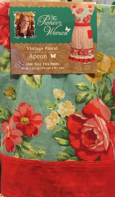 Apron - One Size Fits Most. The Pioneer Woman. The Pioneer Woman, Pioneer Woman Dishes, Pioneer Woman Kitchen, Pioneer Life, Pioneer Woman Recipes, Pioneer Women, Pioneer Woman Dinnerware, Old Kitchen Tables, Aprons Vintage