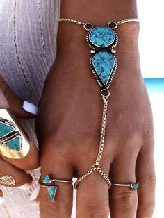 Vintage Turquoise With Ring Bracelet Accessories – oshoplive