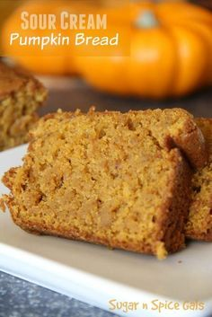 Daisy Sour Cream makes this amazing pumpkin bread especially moist and delicious! Sponsored by Daisy Sour CreamUsing Daisy Sour Cream makes this amazing pumpkin bread especially moist and delicious! Sponsored by Daisy Sour Cream Fall Recipes, Holiday Recipes, Bean Recipes, Chocolate Chip Muffins, Chocolate Chips, Mint Chocolate, Pumpkin Dessert, Pumpkin Cheesecake, Pumpkin Pound Cake