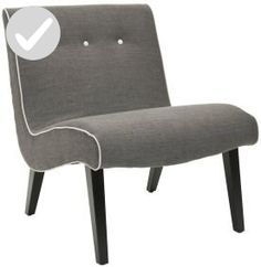 Safavieh Mandell Chair in Charcoal Brown - Improve your home (*Amazon Partner-Link)
