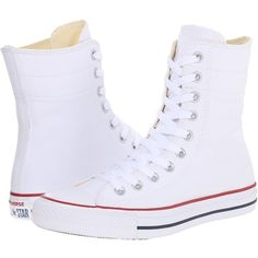 Converse Chuck Taylor All Star Hi-Rise Fundamental Canvas X-Hi Women's... ($65) ❤ liked on Polyvore