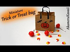 Trick or Treat! Miniature Candy Corn and Lollipops - Polymer Clay Tutorial - YouTube