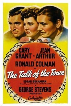 the TALK of the TOWN movie poster 1942 CARY GRANT ronald coleman 24X36 NEW Brand New. 24x36 inches. Will ship in a tube. - Multiple item purchases are combined the next day and get a discount for dome