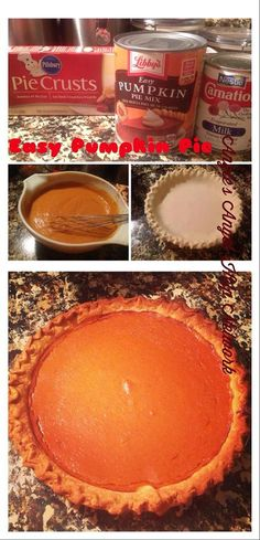 Easiest Pumpkin Pie Recipe #CansGetYouCooking