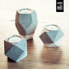 Hobby in de Bus | DIY-pakket betonnen kaarsenhouders