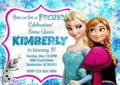 Frozen Invitation Frozen Birthday by PoshPaisleyBoutique on Etsy ...