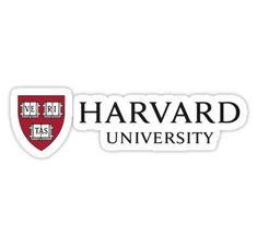 'Harvard University' Sticker by baileylevin Harvard Logo, Harvard Universität, Harvard Medical School, Harvard Business School, Banner Template, Middle School Hacks, High School, Life Fitness, University Of Pennsylvania
