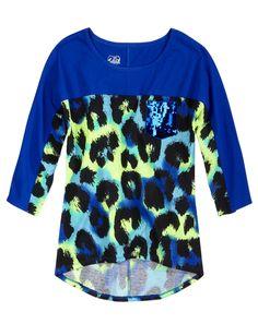 Sequin Pocket Animal Print Top   Long Sleeve   Tops & Tees   Shop Justice