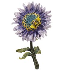 Purple Sunflower With Bee Trinket Box Enameled Figurine With Swarovski Crystals | Collectibles, Decorative Collectibles, Trinket Boxes | eBay!
