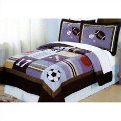My World All Sports Bedding Quilt Set, Multicolor