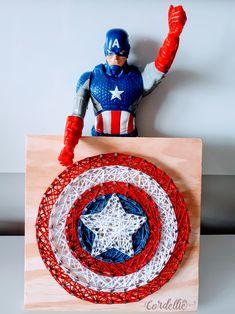 Escudo Capitão América em String Art - Cordelliê