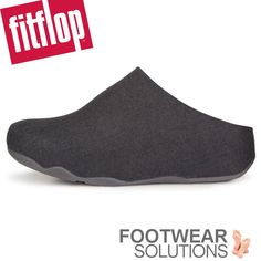 Fitflop Shuv in Anthracite. The second year and just sooo much better. You just have to have this warm (but cool) comfy felt clog! Fall Winter, Autumn, Fitflop, Clogs, Two By Two, Felt, Footwear, Socks, Comfy
