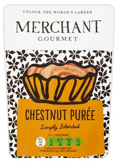 Chestnut Purée is made with our best chestnuts, slowly roasted and then blended until smooth. This is a rich puree [. Chestnut Recipes, Larder, Mashed Sweet Potatoes, Food Inspiration, Vegan Recipes, Tasty, Traditional, Frostings, Stuffing