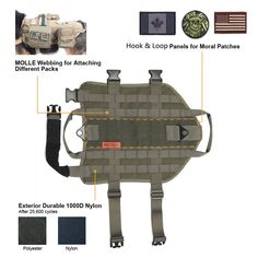 OneTigris Tactical Dog Training Vest Harness with Mesh Padding and Two Handles *** You can get additional details at the image link. (This is an affiliate link) #Dogsweaters