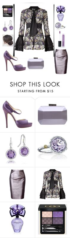 """Looking Lovely in Lilac & LaPerla Lace💜"" by mdfletch ❤ liked on Polyvore featuring Yves Saint Laurent, Carvela, Tacori, WithChic, La Perla, BCBGMAXAZRIA, Gucci, Violet Voss and lilac"