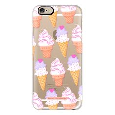 iPhone 6 Plus/6/5/5s/5c Case - Ice Cream Sundae Sweet Cute Food Candy... ($40) ❤ liked on Polyvore featuring accessories, tech accessories, iphone case, apple iphone cases, iphone cover case, slim iphone case and print iphone case