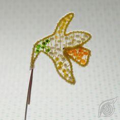 minibrooch  Daffodill; nycrame; by Nady (http://www.nady.cz/broze/minibroz-narcis-93/)