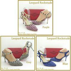 Valentino Leopard Rockstude 4739 Blue 35,39,40 Grey 39 Pink 37,39,40 235rb
