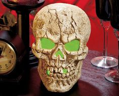 LED Lighted Color-Changing Skull Centerpiece $19.95