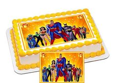 Superheroes Characters Edible Cake & by CakeTopperSpecialist