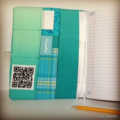 Comp Book Cover Platform Planner with cross stitch QR code! via Angela Bowman of www.angelab.me  #compbookcover #platformplanner