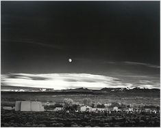 Ansel Adams | Moonrise over Hernandez New Mexico My Personal Favorite of al Ansel Adams Imagery.