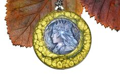 Metal pendant  Elven King elven jewellery fantasy by JankaLart