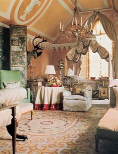 Nancy Lancaster's bedroom at Haseley Court.