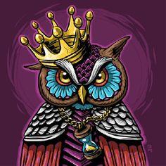 Wer ist hier der King? Design by RAM. #owl