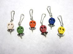 Day of the Dead Charms Sugar Skull Favors 6 by sweetie2sweetie, $10.99