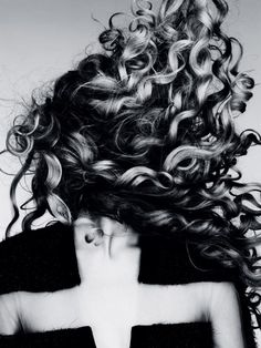 "Credit: Fashion Gone Rogue   Magdalena Frackowiak by Ben Hassett for Vogue Germany January 2012    Magdalena's gloriously out-of-control diva curls are utterly fabulous.  And I love how her curls are creating new silhouettes all on their own.  I always find Ben Hassett silhouette-focused photography gorgeous, and he certainly has plenty of material to work with here.  [To see what I'm talking about, see the ever stunning Cameron Russell in ""Equinox.""]"