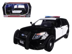 2015 Ford Interceptor Unmarked Police Car Black/White 1/24 Diecast Model Car by Motormax - Brand new 1:24 scale diecast model car of 2015 Ford Interceptor Unmarked Police Car Black/White die cast car model by Motormax. Brand new box. Rubber tires. Has opening doors. Made of diecast with some plastic parts. Detailed interior, exterior, engine compartment. Dimensions approximately L8, W-3, H-3 inches. Please note that manufacturer may change packing box at anytime. Product will stay exactly…