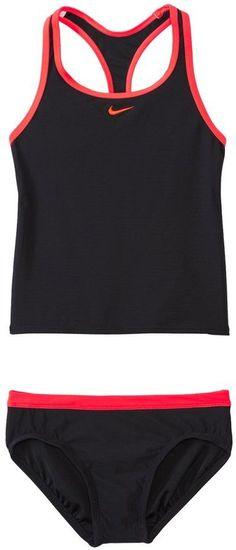 Nike Girls' Core Solid Racerback Tankini Two Piece Set (7yrs14yrs) - 8112153
