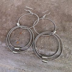 Bass String Concentric Earrings now featured on Fab.