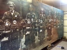 popular top 20 --2D Andrew J. Woodstock - Protect and Serve - tribute to a group of 1930's era police officers on their Harleys