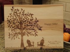 Personalized Cutting Board, Cutting Board, Lasered Engraved, Wedding Present, Anniversary Gift, Bridal Shower Gift, Christmas Present on Etsy, $34.95